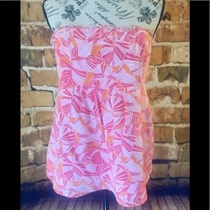 Lilly Pulitzer Size 12 Strapless Tub Top Shirt